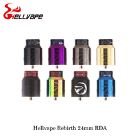 electronic cigarette Hellvape Rebirth 24mm RDA 810 Cobra Drip Tip Single Coil Build For Squonkor Mod Vape Vaporizer VS Drop Dead