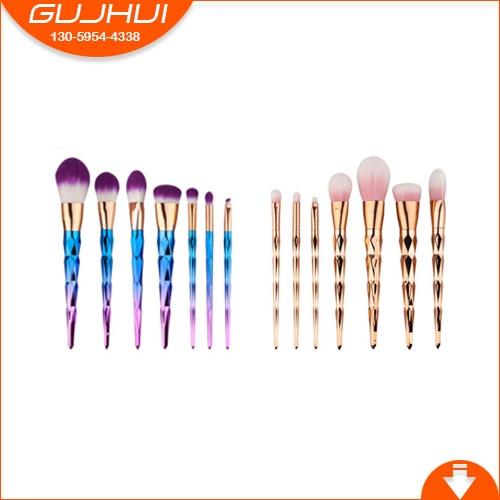 7 Diamond Make Up Brushes, Brush Sets, Makeup Tools, Beauty Makeup, Foundation Brush, GUJHUI Rhyme 12 unicorn makeup brush sets beauty tools make up powder brush sets brush gujhui