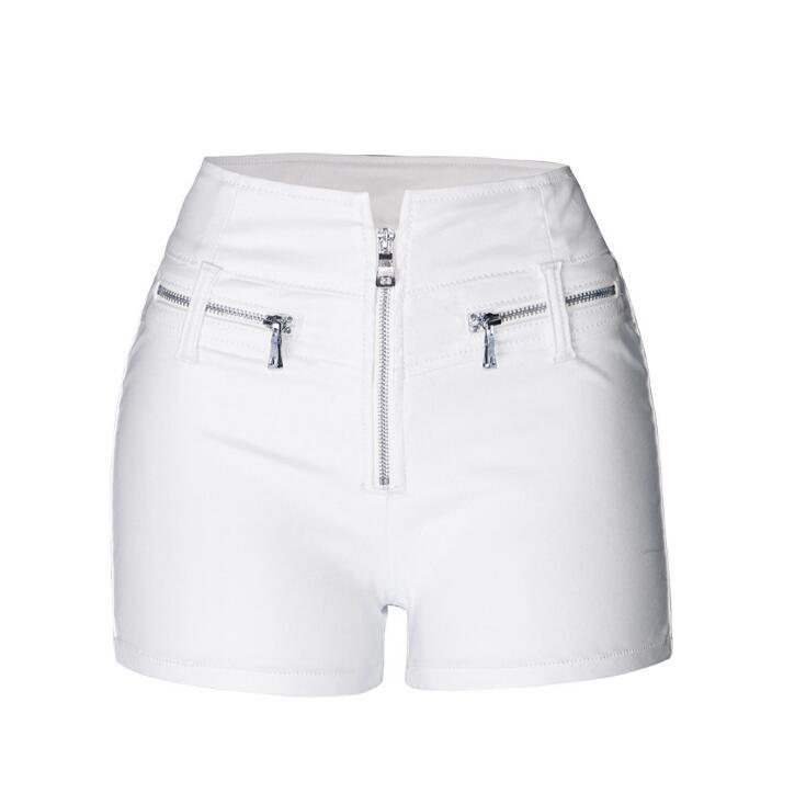 Shorts Booty High-Waist Summer Plus-Size Women Punk White