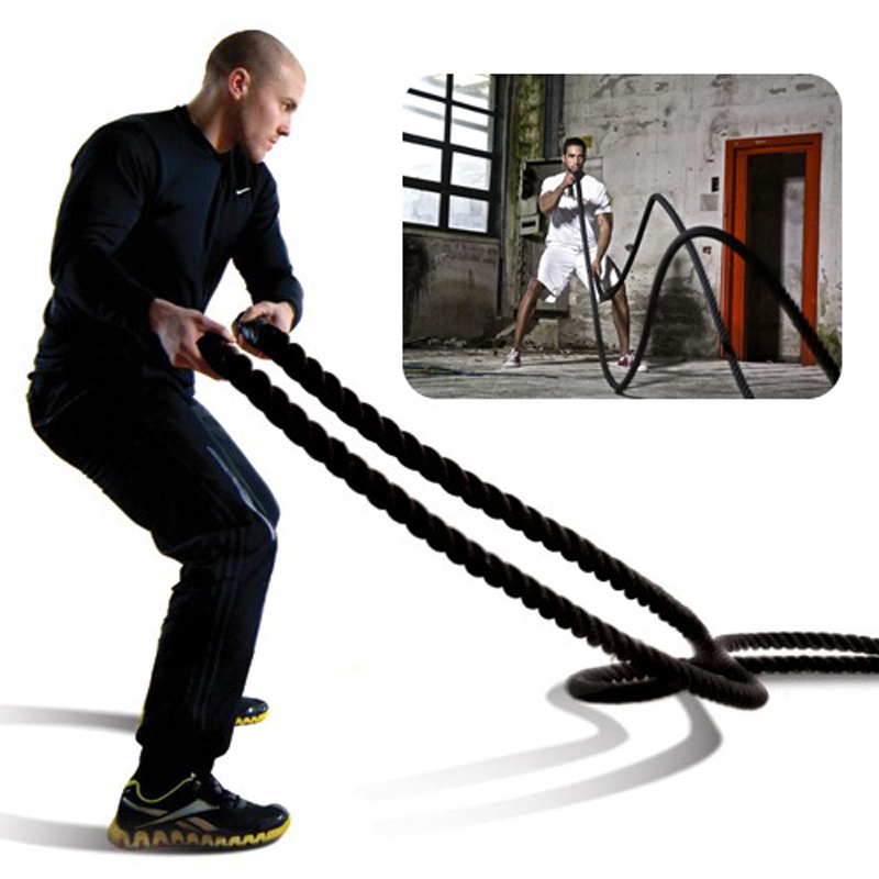New arrival (3.8cmx12 meter) 1.5x40' feet battle ropes Power Training Rope dongting lake 26 x40