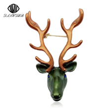 ФОТО fashion personality bull head brooches for women  men animal brooch jewelry hijab pins party gifts accessories xi034