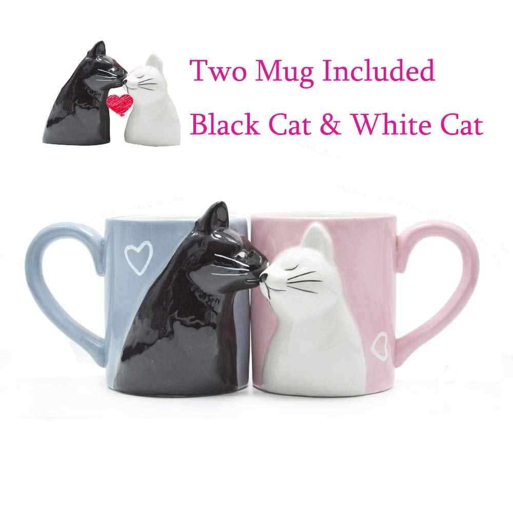c4154ca7223 Detail Feedback Questions about 2pcs Luxury Kiss Cat Cups Couple ...