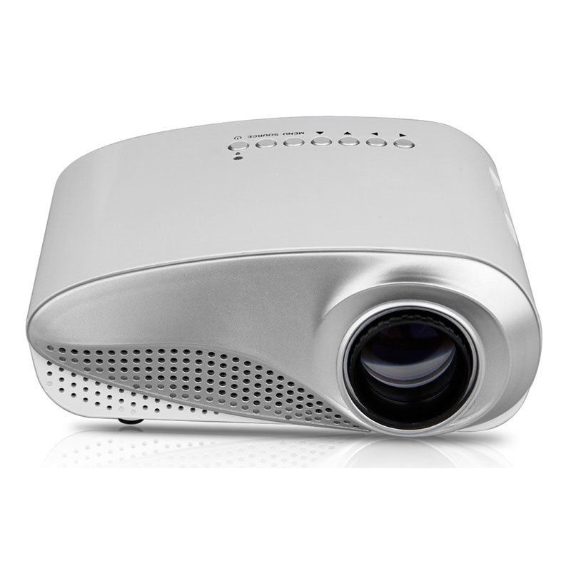 RD 802 Mini Home Multimedia Cinema LED 1080P Projector AV TV VGA USB HDMI SD Trendy Private Theater White