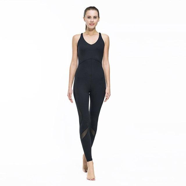 Quick Dry Spandex Women Fitness Jumpsuit