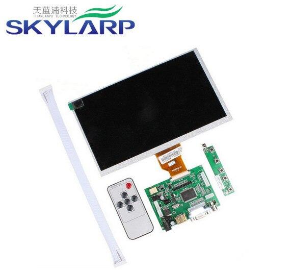 Skylarpu 9inch tela lcd HDMI/VGA Digital de Bordo Motorista LCD TFT LCD AT090TN10 para Raspberry Pi 800*480 WVGA LCD Set