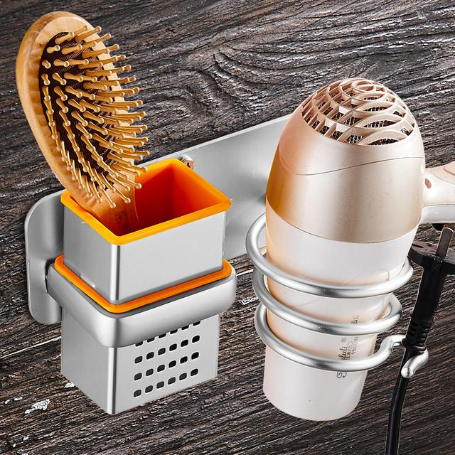 Bathroom Hair Dryer Holder Wall Mounted Rack