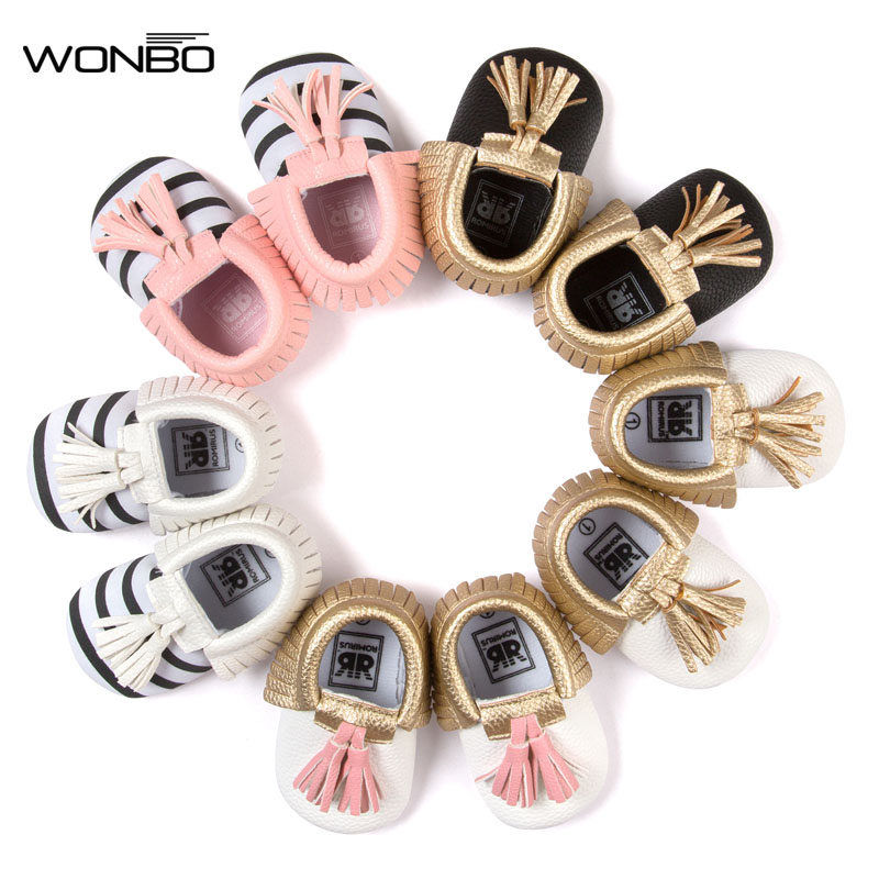 WONBO New Arrive Baby Moccasin Newbron Baby First Walker Soft Bottom Non-slip Baby Shoes Kids Leather Prewalkers Boots