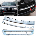 Front Bumper Grill Trim Rear Trunk  Step Cover Fascia Applique ABS Chrome  For Jeep Grand Cherokee 11 12 13 14 15 Free Shipping