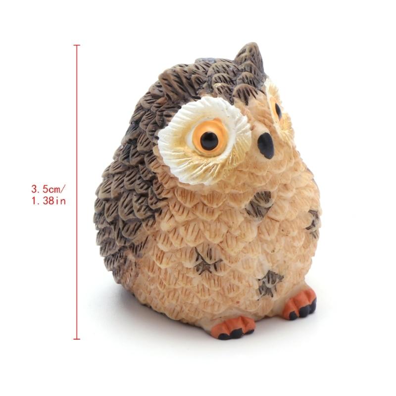 Cute Owl Mini Dollhouse Bonsai Craft Garden Ornament DIY Plant Pots Fairy Garden