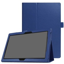 Litchi Series Smart PU Leather Cover Flip Case For Lenovo TAB4 10 TAB 4 10 TB-X304F TB-X304N Tablet Case for lenovo tab 4 10 tb x304f tb x304n 10 1 stand pu leather case funda cover removable bluetooth russian hebrew spanish keyboard