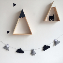 Nordic Style Felt Cloud Garland Party Banner Kids Room Nursery Hanging Wall Decor Girls Princess Bunting Ornament