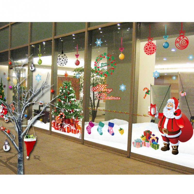 Hot sell 2pcs newest merry christmas gift shops stickers tree santa package 2 pcs christmas stickers solutioingenieria Image collections