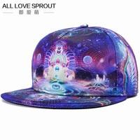 Brands 3D Color Printing Buddha Men Women Sports Hat Hats Baseball Cap Fashion Trends Hip Hop