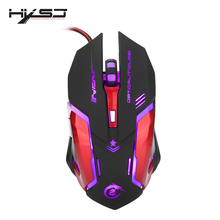 HXSJ 3200DPI Professional USB Wired Quick Moving LED Light With 6 Buttons Gaming Mouse For computer laptop