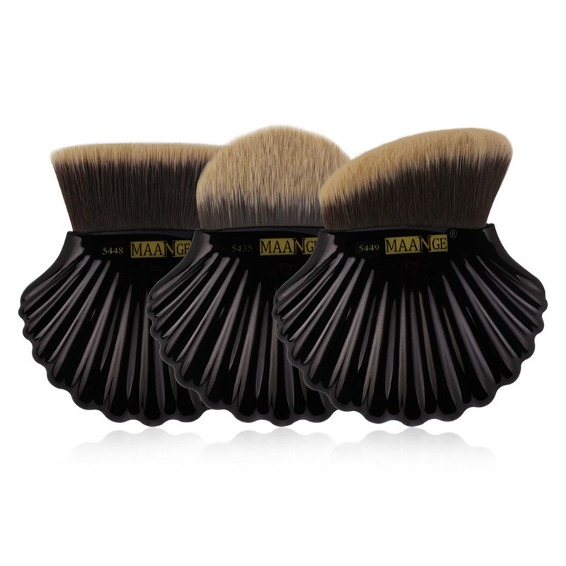 3 pcs/set Foundation Makeup Brush Cosmetic Powder Blush Concealer Beauty Shell Brush Contour Face Make Up Brush Tools Maquiagem new design stamp seal shape face makeup brush foundation powder blush contour brush cosmetic facial brush cosmetic makeup tool