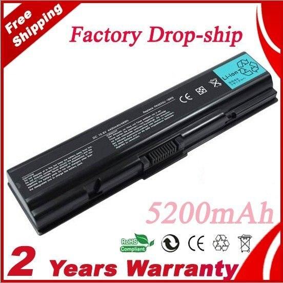 Free Shipping for TOSHIBA PA3533U PA3534U PA3535U Laptop Battery 11.1v 5200mah 6 cells