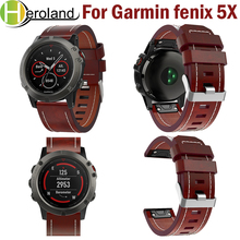 Leather Bracelet Strap 2018 New 26mm EasyFit Replacement Wrist Band Luxury Smart Quick Release For Garmin Fenix 5x Bands