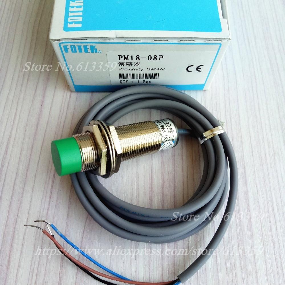 2PCS PM18 08P PNP NO FOTEK New High Quality Proximity Switch Sensor ...