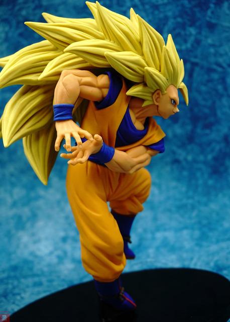 Dragon Ball Super Saiyan Three Battle Damage Edition Son Goku Kakarotto Action Figure
