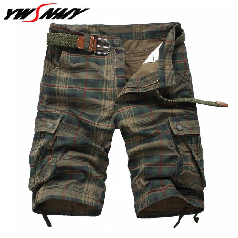 Men Cool Camouflage Shorts Summer Hot Sale Cotton Casual Man Plaid Short Pants Brand Clothing Comfortable Camo Mens Cargo Shorts