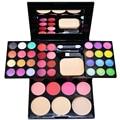 Nova paleta de maquiagem 24 cores da paleta da sombra Lip Gloss Blush sombra em pó paleta Kit cosméticos de beleza
