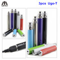 3PCS USB passthrough ugo t battery electronic cigarette battery 650/900/1100mah e cigarette e cig ecigar battery