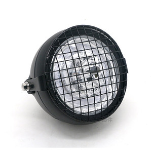 Image 3 - Motorcycle LED Headlight Hi&Lo HeadLamp Bulb With Angel Ring for Harley Sportster Cafe Racer Bobbe
