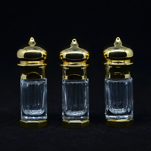 3 ml (1 pieces/lot) Gold And Bronze Color 3 CC Mini Alloy Bottle Vials Sample Test Bottle For Essential Oils Perfume Hot Selling