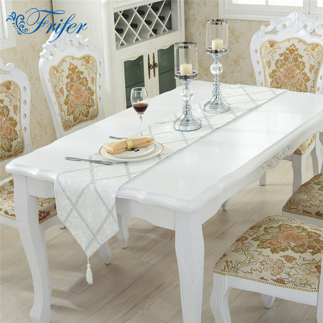 Merveilleux White Grid Tablecloth Table Runner Placemats Tablecloths Table Flag Mats  Modern Table Runners For Home Wedding