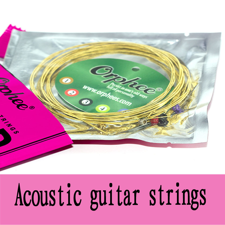 Image 2 - Orphee Hot Sell 1 SET ACOUSTIC Guitar String Hexagonal core+8% nickel FULL,Bronze Bright tone& Extra light Extra Light Medium-in Guitar Parts & Accessories from Sports & Entertainment