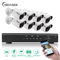 WOASER 48V Video Output 8PCS 2 0MP IP Camera 8CH HD 1080P HDMI P2P POE