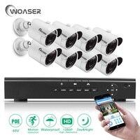 WOASER 48V Video Output 8PCS 2 0MP IP Camera 8CH HD 1080P HDMI P2P POE