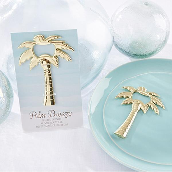 Us 1200 Freies Verschiffen 100 Teilelos Hochzeit Gefälligkeiten Palm Breeze Gold Flaschenöffner Gastgeschenke Goldene Palme öffner In