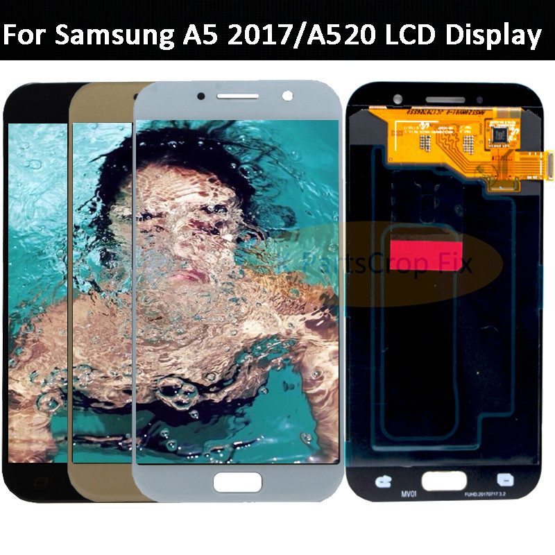 OLED For SAMSUNG GALAXY A5 2017 LCD A520 A520F SM A520F Display Touch Screen Digitizer Assembly