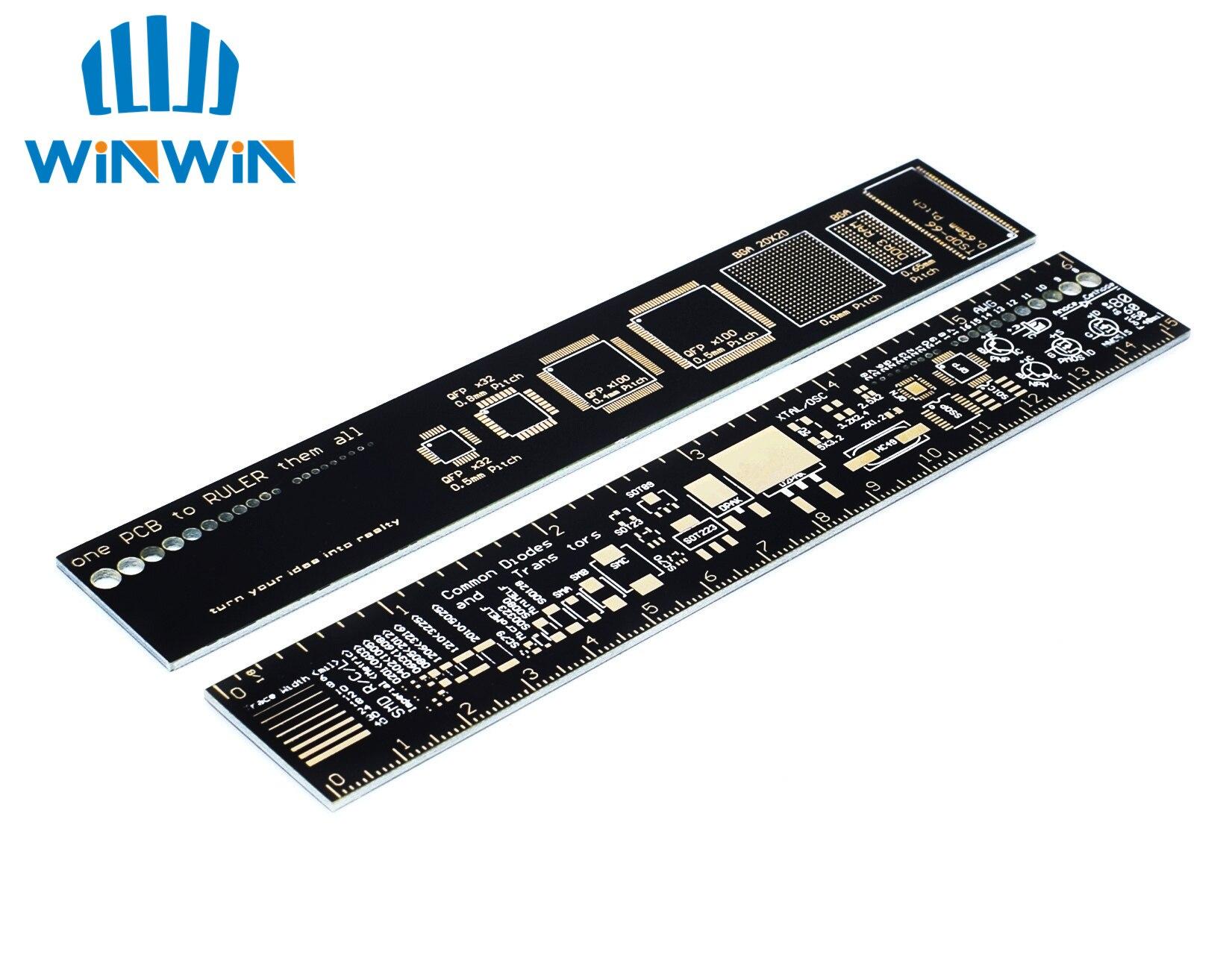Линейка I72 PCB 15 см для электронных инженеров, сборщиков Geeks, для вентиляторов, линейка для справочных печатных плат, упаковочные блоки PCB v2 - 6