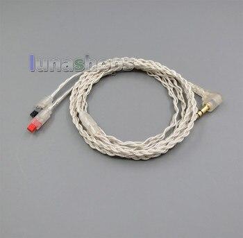 LN005318With Earphone Hook Silver Foil PU Skin Cable For audio-technica ATH-IM50 ATH-IM70 ATH-IM01 ATH-IM02 ATH-IM03 ATH-IM04 фото