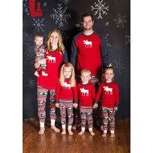 Family Christmas Pajamas Set Warm Adult Kids Girls Boy Mommy