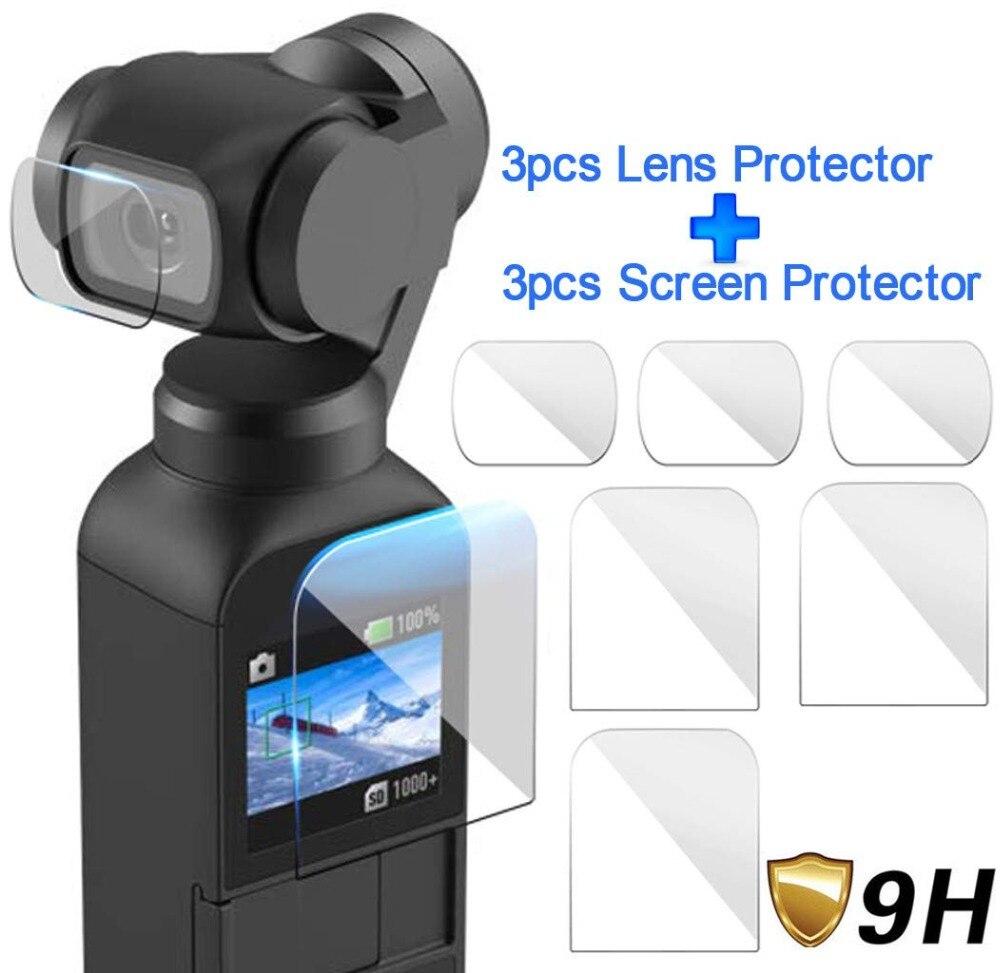 DJI Osmo accessoires de protection d'écran de poche Film de protection de lentille couvercle de cardan accessoires filtre pour poche DJI Osmo