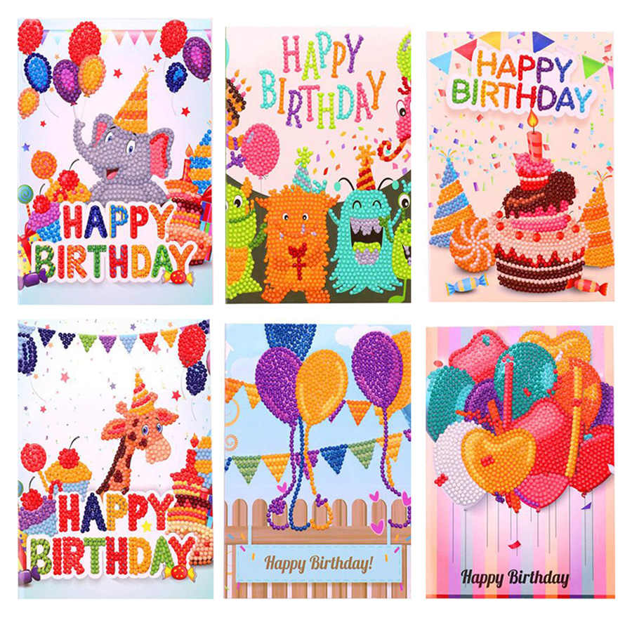 Strange Happy Birthday Greeting Cards Diamond Painting Embroidery Funny Birthday Cards Online Fluifree Goldxyz