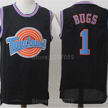 9c47ecefb2922 Ediwallen Looney Tunes 1 Bugs Squad Men Black Stitched White Basketball Bunny  Jersey