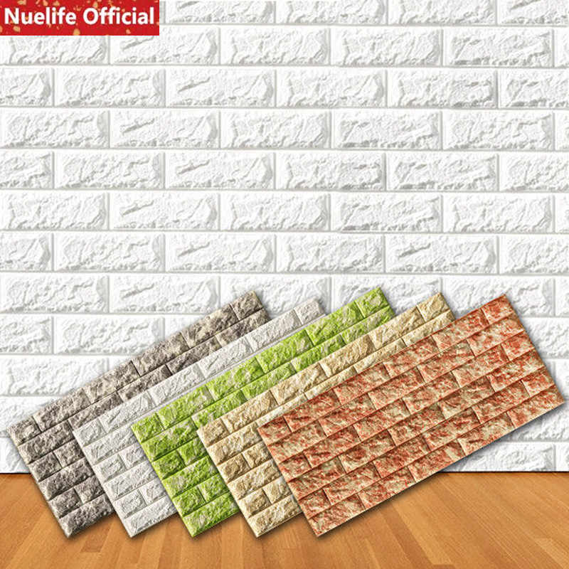 10pcs 3d brick skirting wall sticker living room bedroom kids room TV background anti-collision foam self-adhesive wallpaper