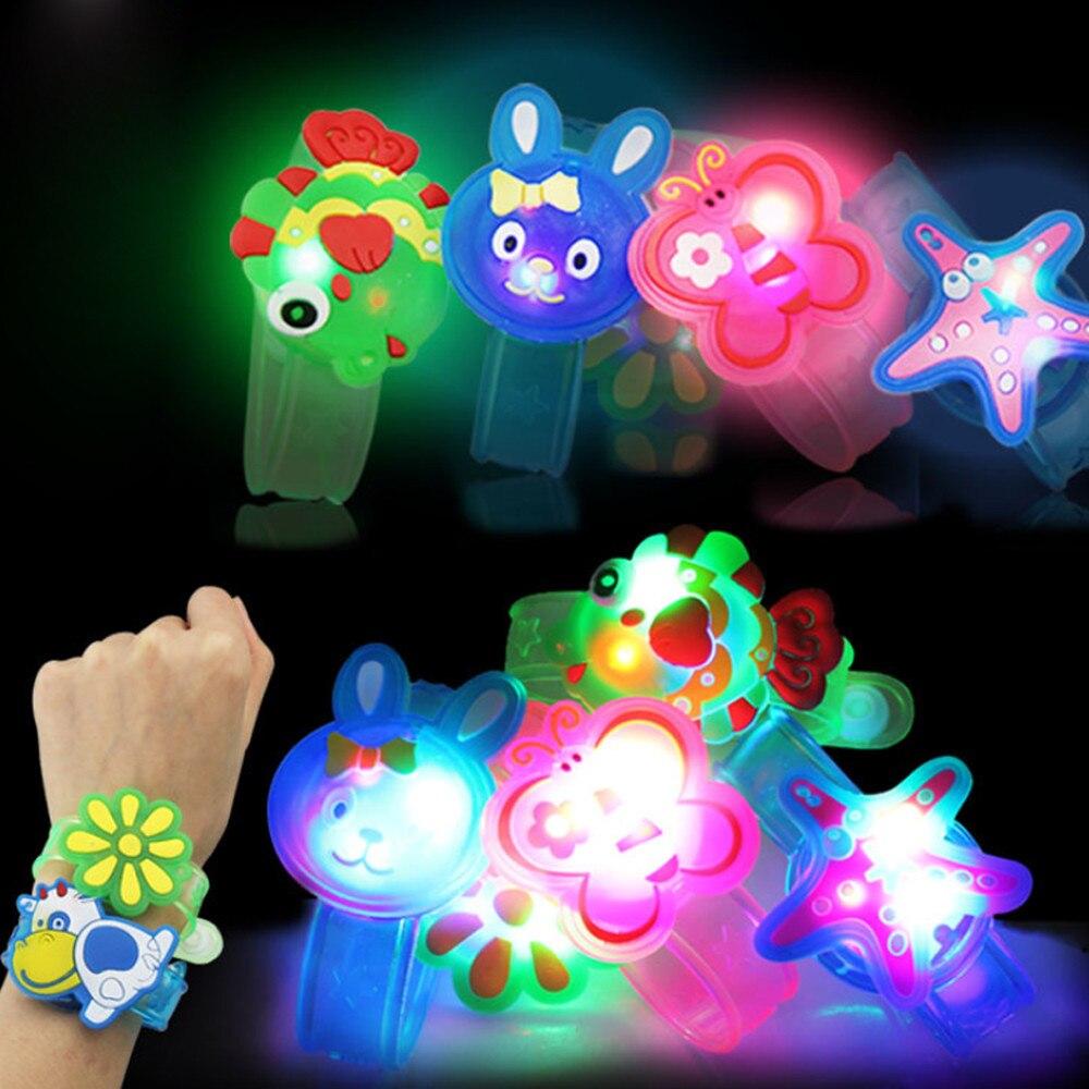 Случайная Новинка, новинка, детские часы, ремешок со светящимися светодиодными лампочками, креативный браслет, часы, светящиеся наручные св...