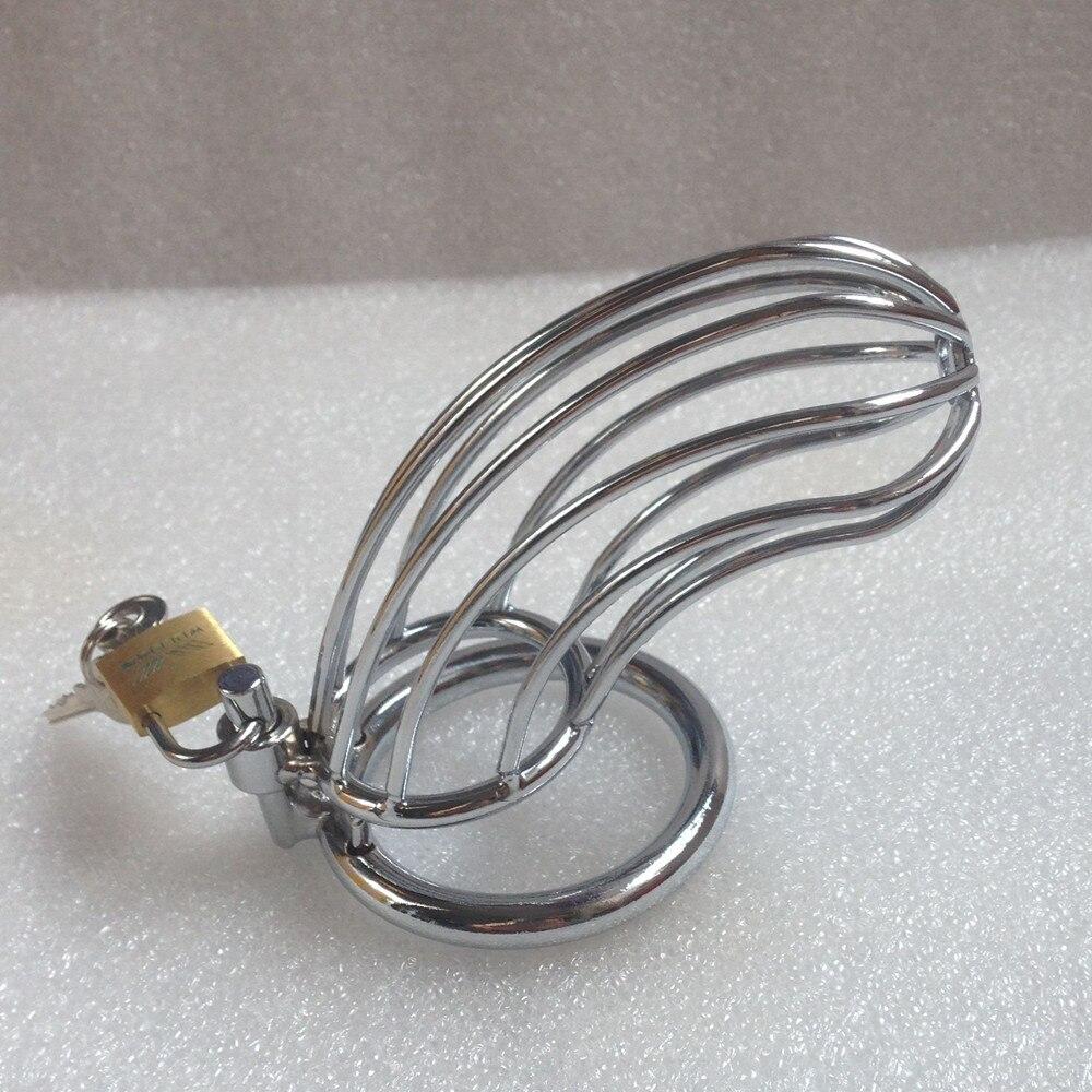 Loverkiss anillo de pene de castidad de acero masculino para juegos de adultos, jaulas de pene dispositivos de castidad jaula de pene juguetes sexuales para hombre,