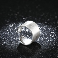 AZIZ BEKKAOUI 100 925 Sterling Silver Ring Exaggerated Wide Rings For Women Ringent Finger Ring Vintage