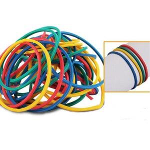 Image 5 - 500 adet/paket Karışık Renkli lastik bantlar Renkli Çapı 40mm Lastik Bant kauçuk yüzükler Elastik Bant Ofis Kaynağı Ücretsiz Kargo
