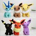 6PCS/set Anime Pikachu  plush Toys Cute Eevee Flareon Vaporeon Umbreon Espeon Jolteon Plush Toy