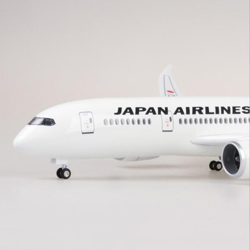 1/130 échelle 47 CM avion Boeing B787 Dreamliner avion japon compagnie aérienne modèle W lumière et roue moulé sous pression en plastique résine avion jouets