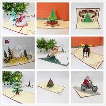 Новинка, 1 шт., 3D поздравительные открытки, лазерная резка, открытка на день рождения, юбилей, подарки, открытка, Рождественская вечеринка, свадебное украшение# T2