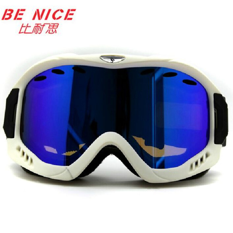 Benice marca gafas de snowboard nieve esqui profesional doble anti-vaho de invie