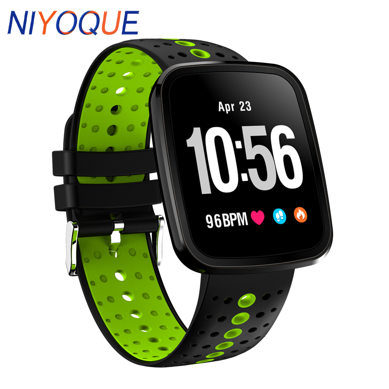 V6 Smart Watch Bracelet Waterproof Heart Rate Blood Pressure Fitness Sleep Monitoring Smartwatch For IPhone Android Huawei Meizu